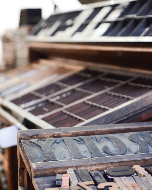 letterpress printmaking studio